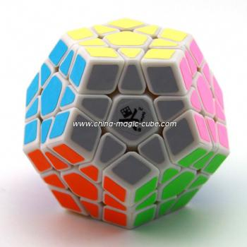 <Free Shipping>Dayan Megaminx I in traditional shape White Body for Speed-cubing