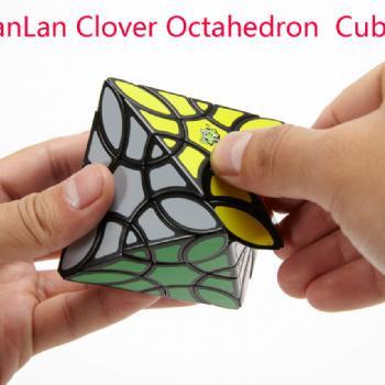 LanLan Clover Octahedron Cube Puzzle Black Cubo Magico Toys for kid children Gift Idea Collection Brain Game